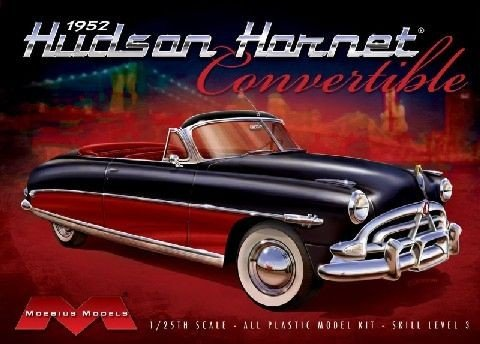 Classic Model Car Kit - Moebius 1:25 Scale 1952 Hudson Hornet Convertible Model Kit