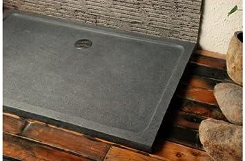 SPACIUM: receveur de douche Design en pierre naturelle 140x90 taillé ...
