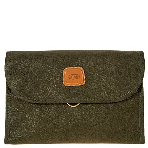 Bric's Life Tri-Fold Traveler Organizer Toiletry Kit, Olive by Bric's