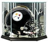 NFL Octagon Full Size Football Helmet Glass Display Case, Black