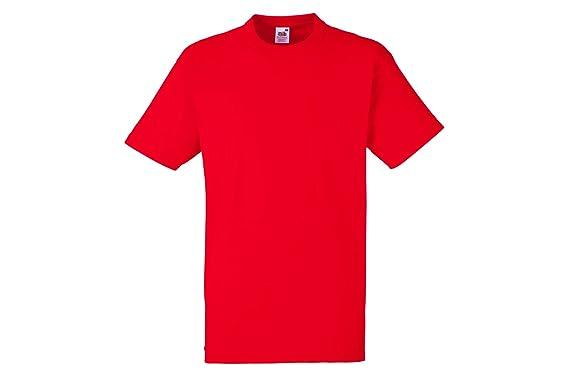 7c790ed5675a Fruit of the Loom Men's T-Shirt Red red X-Large: Amazon.co.uk: Clothing
