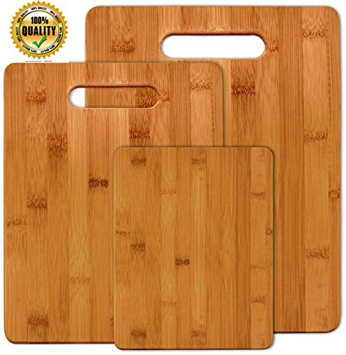 NEW Bamboo 3 Set Piece Cutting Board Totally Kitchen Wood Chopping - Sunglass Hut Europe
