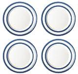 Cornishware Blue and White Stripe Set of 4 Side Plates 7''