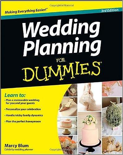 Wedding Planning For Dummies: Marcy Blum: 9781118360354: Amazon ...