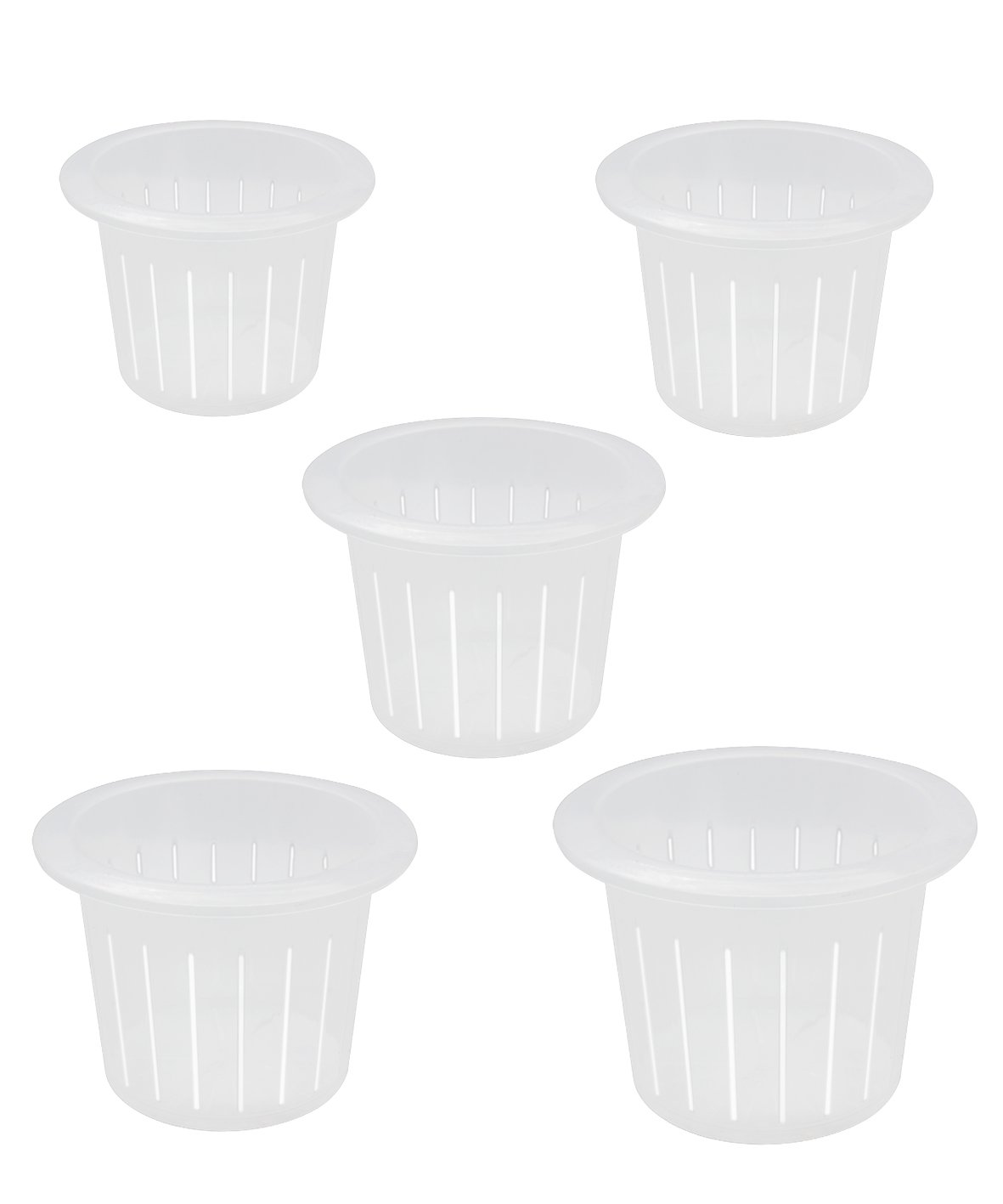 coisound 1688 Orchid Breathable Slotted Clear Plastic Pot - Growers Assortment (10 pots - Two of them are 4'',5'',6'',7'',7.5'')