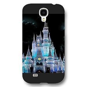 New Zeng Customized Black Hard Plastic Disney Castle Samsung Galaxy S4 Case