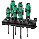 Wera 05028062004 Kraftform Plus 367/6 Torx Screwdriver Set and Rack, 6-Piece