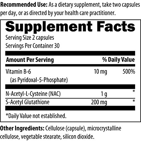 S Acetyl Glutathione Synergy 60 Capsules