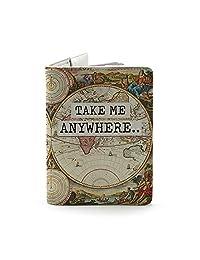 Wanderlust Collection – Soporte personalizado de piel para pasaporte – regalos de viaje
