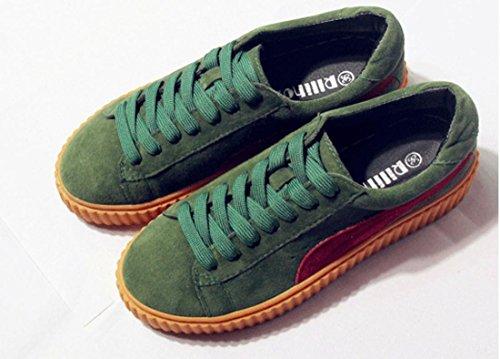 Scarpe YCMDM nuovo svago Sport sandali spessi rotonde delle donne testa di scarpe , green , 37