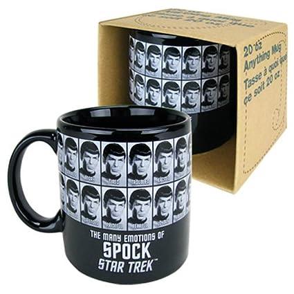 4ec036bace9 Amazon.com | Star Trek Emotions of Spock 20 oz. Mug: Coffee Cups & Mugs