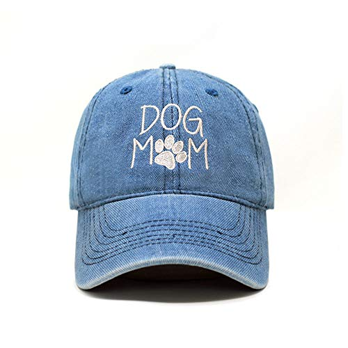 (ChoKoLids Dog Mom Dad Hat Cotton Baseball Cap Polo Style Low Profile (Light Denim PC103))