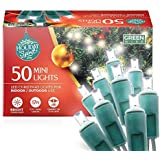 Holiday Spirit Christmas Lights, 50 LED Mini Christmas String Lights for Indoor & Outdoor Use, 120V UL588 Listed (Bright Whit
