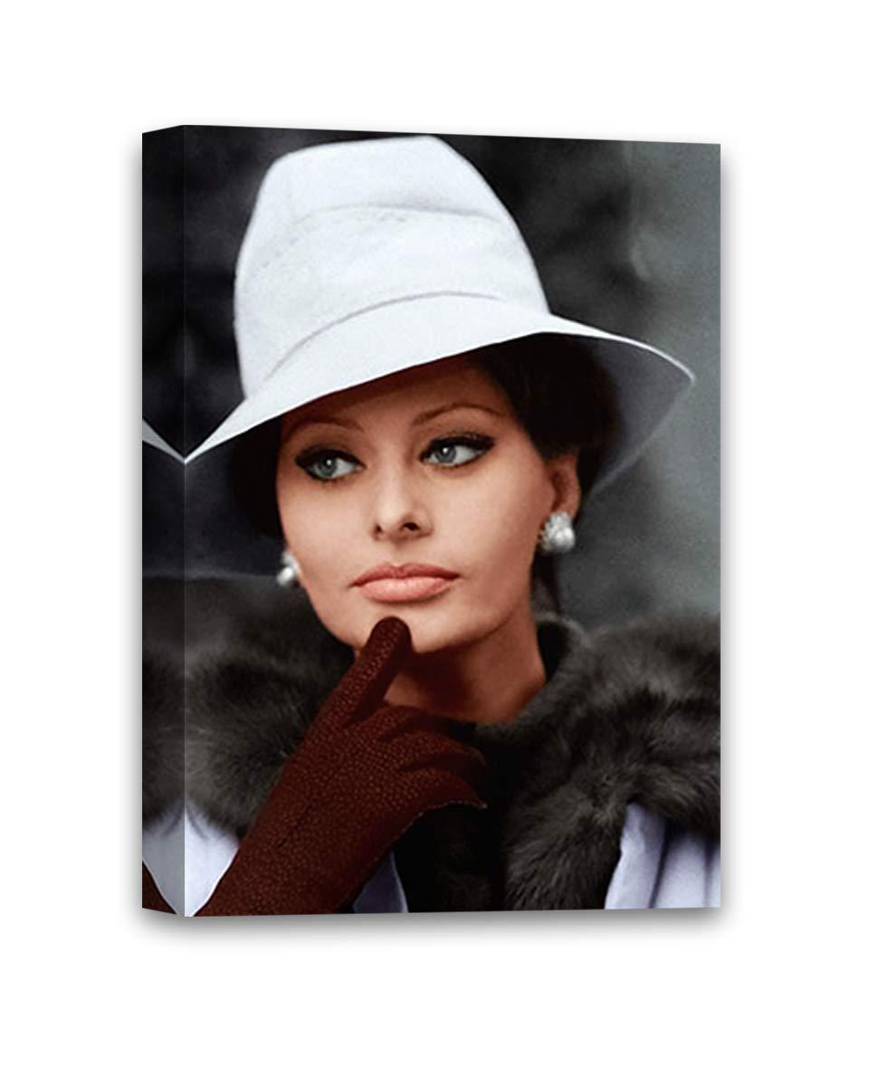 Italian Retro Wall Art Old Movie Poster Sophia Loren Portrait Sofia Loren Poster