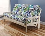 Cheap Victoria Futon Sofa Bed White Frame W/garden Premium Mattress (Flower)
