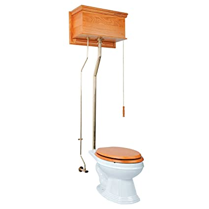 Pull Chain Toilet Cool Light Oak High Tank Pull Chain Toilets With Elongated Toilet Bowl
