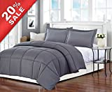 Alternative Comforter - Gray Polyester Medium Warmth Twin Down Alternative Comforter Duvet Insert,68