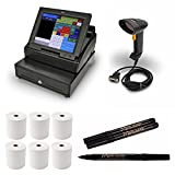 Royal TS1200MW Touchscreen Cash Register with 12'' LCD Screen bundle