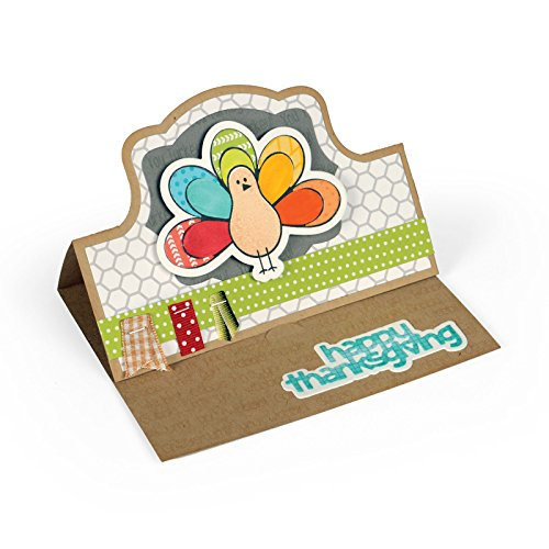 - Sizzix 661571 Framelits Die Set with Stamps, Thanksgiving Turkey by Stephanie Barnard, Pack of 10 (9 dies, 8 stamps)