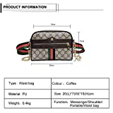 VOCUS Women Waist Fanny Pack PU Belt Bag Chain