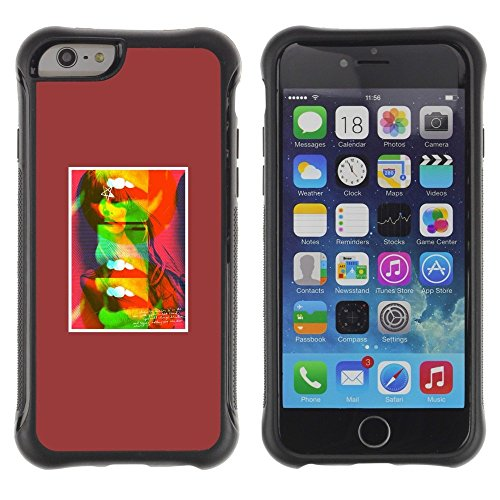 Pulsar iFace Series Soft TPU Skin Bumper Case Cover for Apple iPhone 6+ Plus(5.5 inches) , Abstract Lips Kiss Pop Art Minimalist Abstract Pop Art