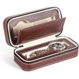 ALEXTREME 2019 New Watch Cases,Watch Box for Men,Watch Organizer,Portable 2 4 8 Grids Travel Watch Box PU Leather Zipper Storage Case Watch Organizer