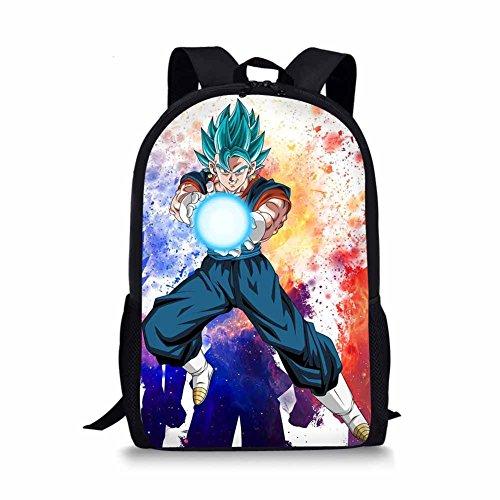 CuMagical Dragon Ball Middle School Backpack for Elementary School Cartoon Kids Book Bag (Pattern Casual Cartoon)