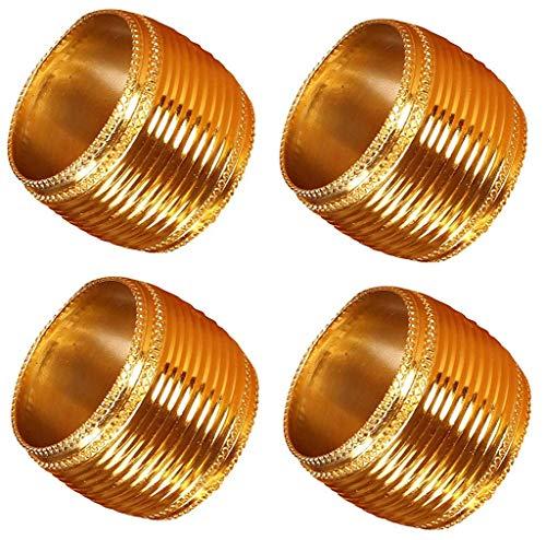 - Cotton Clinic Beaded Metal Napkin Rings Gold Set of 4, Farmhouse Vintage Style Napkin Rings Bulk, Hand Made Napkin Rings for Wedding