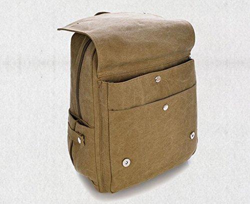 Sucastle bag borsa di tela borsa zaino tracolla sacchetto di modo sacchetto di svago Sucastle Colore:cachi Dimensione:37x28x16cm