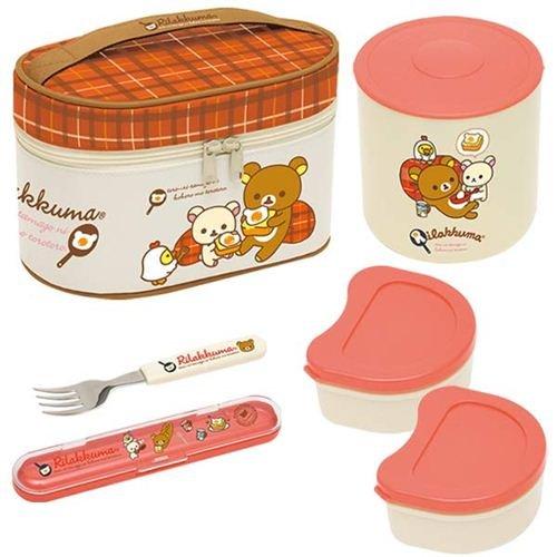Gran set caja bento taper + bolsa oso Rilakkuma huevo San-X ...