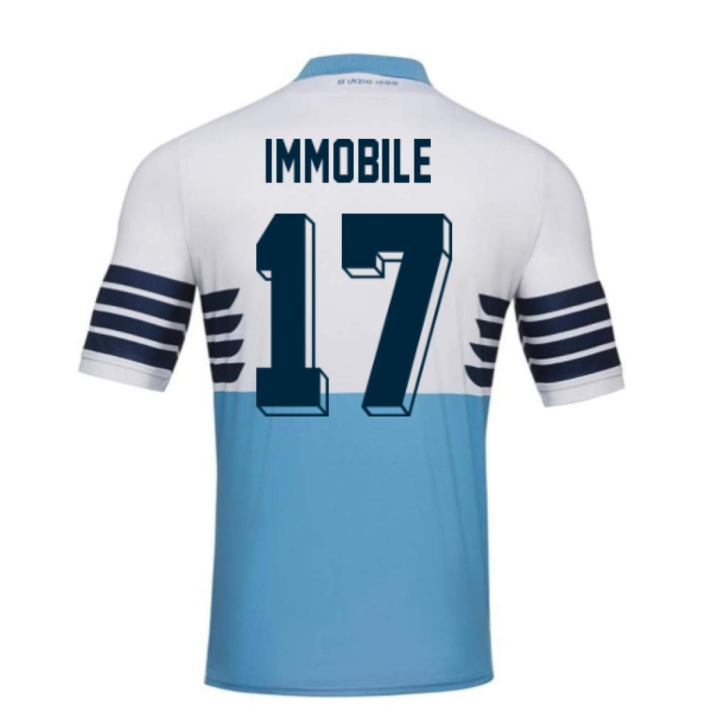 2018-19 Lazio Home Football Soccer T-Shirt Trikot (Ciro Immobile 17)