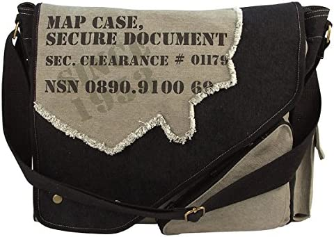 Rothco Vintage 2-Tone Imprinted Map Case