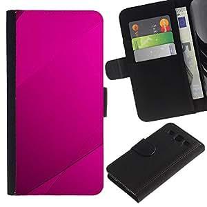 LECELL--Cuero de la tarjeta la carpeta del tirón Smartphone Slots Protección Holder For Samsung Galaxy S3 III I9300 -- Purple Azulejos --