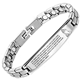 Willis Judd New Ladies Titanium Magnetic Bracelet Engraved with The Hail Mary Gift