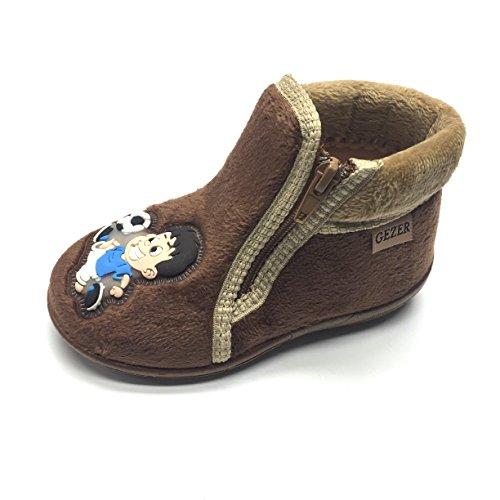 Gezer Boys' Slippers brown brown Braun-Hellbraun