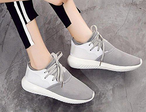 Sport und Freizeitschuhe Netz Schuhe Student Aufzug Schuhe Herbst Frau läuft Grey