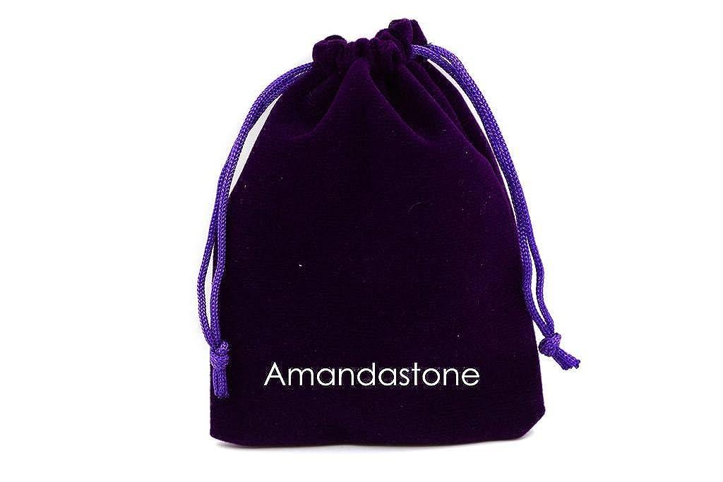 Amandastone Natural Gemstone Prehnite Charm Pendant Necklaces 20