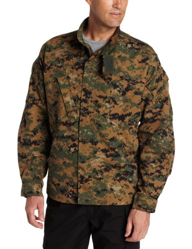(Propper Men's Battle Rip ACU Coat, Medium 3, Woodland Digital)
