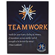 Teamwork Lapel Pin on Presentation Quote Card