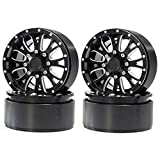 RCLIONS 2.2inches Aluminum Beadlock Wheels/Rims 5 Spokes for 1/10 Crawler RC Car -Pack of 4pcs