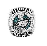Zoga New Philadelphia Eagles Ring, Super Bowl LII World Foles and Wentz Championship Replica Ring