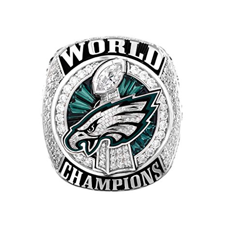 - Zoga Philadelphia Eagles Championship Ring, Super Bowl LII Replica Fans' Ring Size 9-12 (Ver.3) (11, Foles)
