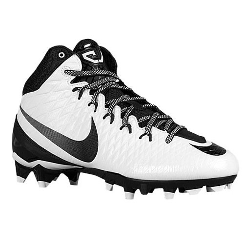 Mens Nike CJ Strike 3 Football Cleat (8 D(M) US, White/Black) (U Of M Football compare prices)