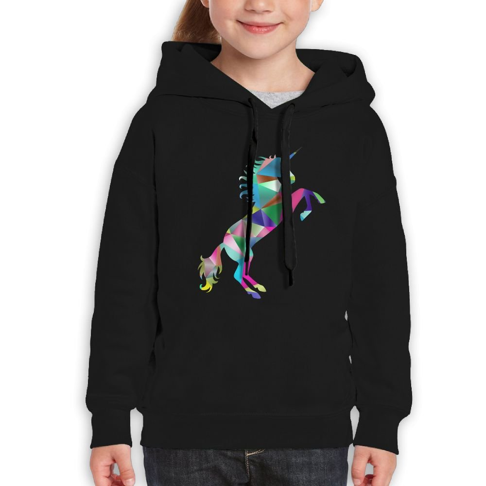 Prismatic Triangle Unicorn Girls Boys Teens Cotton Long Sleeve Cute Sweatshirt Hoodie Unisex