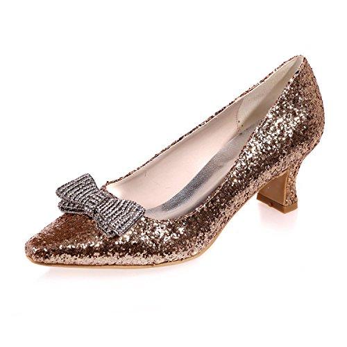 Plana Verano Tamaño Plata Brillante Las Gran yc L Boda Oro Arco Zapatos Primavera Mujeres De Golden Otoño Con n0vpFqxwg