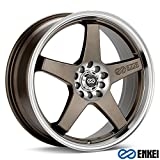 18x7.5 Enkei EV5 (Matte Bronze w/ Machined Lip) Wheels/Rims 5x105/110 (446-875-5238ZP)