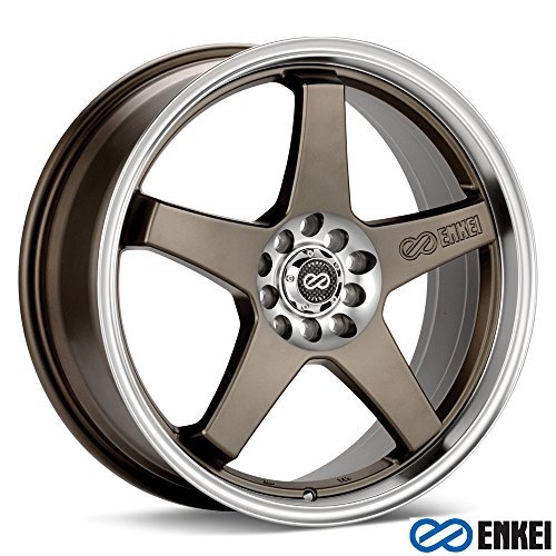 17x7 Enkei EV5 (Matte Bronze w/ Machined Lip) Wheels/Rims 5x100/114.3 (446-770-0245ZP)