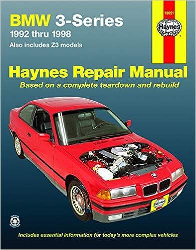 1992 1998 bmw 318i 323i 325i 328i m3 e36 service repair manual ( ….