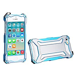 iPhone 5S Case,iPhone 5 Metal Case, Dropproof Shockproof Aluminum Back Bumper Case Cover for iPhone 5 iPhone 5S iPhone SE Blue