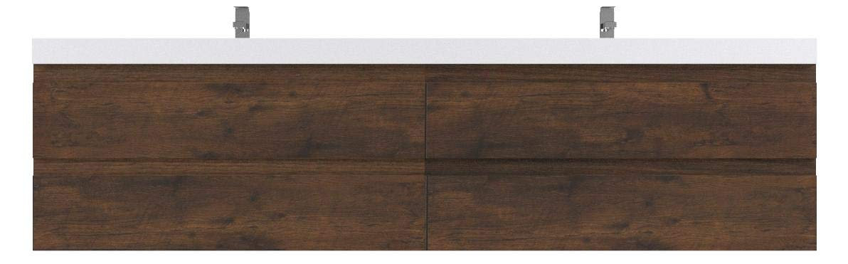 Moreno MOB Rose Wood Wall Mounted Modern Bathroom Vanity with Acrylic Sink (72 inch double sink) by Morenobath